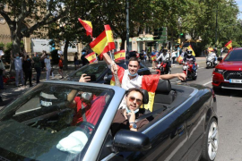 Autokorso gegen Regierung in Palma de Mallorca