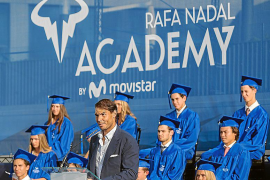 Rafael Nadal bei der Abschlussfeier seiner Schule im vergangenen Jahr.