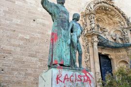 Unbekannte beschmieren Statue von Los-Angeles-Gründer auf Mallorca