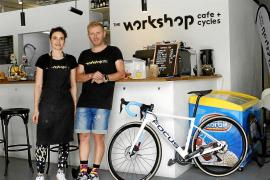 Fahrradkette mit Kaffee auf Mallorca